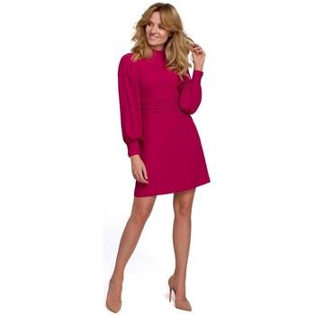 Textil Mulher Vestidos curtos Makover K077 Vestido com folho flamenco - ameixa
