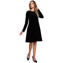 Textil Mulher Vestidos curtos Moe M566 Velvet Relaxed Fit Dress - maroon
