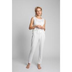 Textil Mulher Pijamas / Camisas de dormir Lalupa LA025 Viscose Pyjama Bottoms - ecru