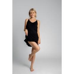 Textil Mulher Pijamas / Camisas de dormir Lalupa LA031 Viscose Chemise - preto