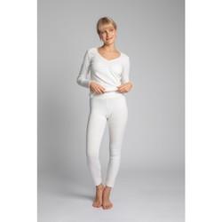 Textil Mulher Collants Lalupa LA035 Roupa de Algodão com Costura Leggins - ecru