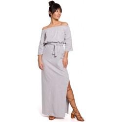 Textil Mulher Vestidos Be B146 Vestido fora do ombro maxi - cinzento