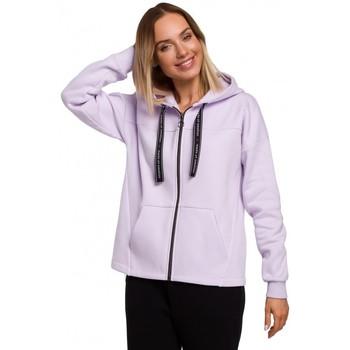 Textil Mulher Sweats Moe M550 Capuz com fecho de correr - lilás