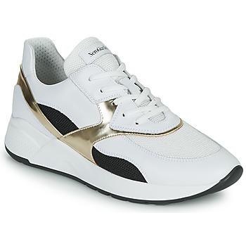 Sapatos Mulher Sapatilhas NeroGiardini FILOMENE Branco / Preto / Ouro