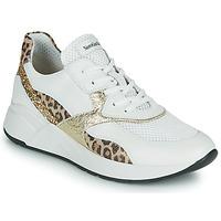 Sapatos Mulher Sapatilhas NeroGiardini FIDEL Branco / Leopardo