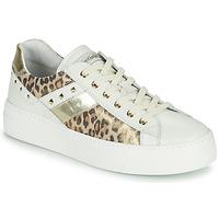 Sapatos Mulher Sapatilhas NeroGiardini MANO Branco / Leopardo