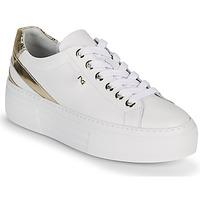 Sapatos Mulher Sapatilhas NeroGiardini LAITO Branco / Ouro