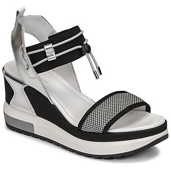 Sapatos Mulher Sandálias NeroGiardini CAMINO Preto / Prata