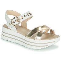 Sapatos Mulher Sandálias NeroGiardini TIMMA Branco / Ouro