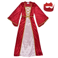 Textil Rapariga Disfarces Fun Costumes COSTUME ENFANT REINE DE LA RENAISSANCE Multicolor