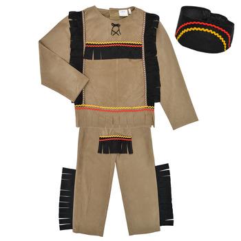 Textil Rapaz Disfarces Fun Costumes COSTUME ENFANT INDIEN BIG BEAR Multicolor