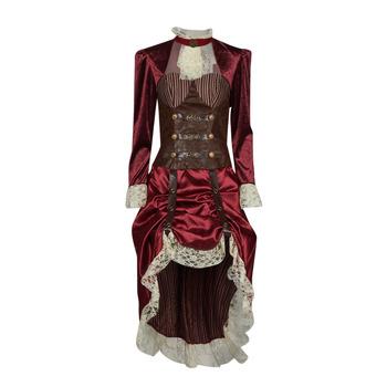 Textil Mulher Disfarces Fun Costumes COSTUME ADULTE LADY STEAMPUNK Multicolor