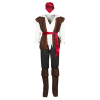 Textil Homem Disfarces Fun Costumes COSTUME ADULTE PIRATE THUNDER Multicolor
