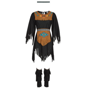 Textil Mulher Disfarces Fun Costumes COSTUME ADULTE INDIENNE SHE-WOLF Multicolor