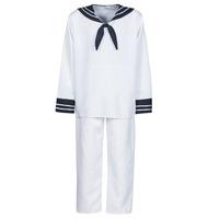 Textil Homem Disfarces Fun Costumes COSTUME ADULTE MARIN BLANC Branco