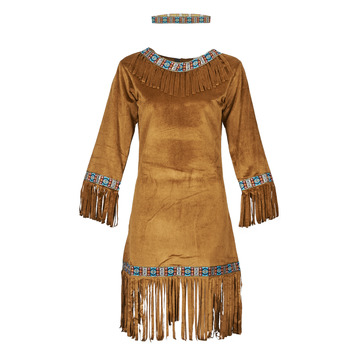 Textil Mulher Disfarces Fun Costumes COSTUME ADULTE INDIENNE YOUNG DEER Multicolor