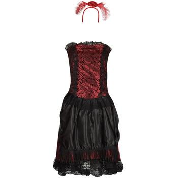 Textil Mulher Disfarces Fun Costumes COSTUME ADULTE SALOON GIRL Multicolor