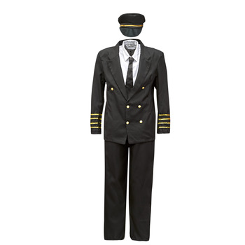 Textil Homem Disfarces Fun Costumes COSTUME ADULTE PILOTE Multicolor