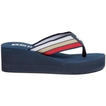 Sapatos Mulher Chinelos Big Star FF274A301 Azul marinho