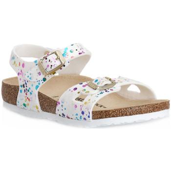 Sapatos Criança Sandálias Birkenstock RIO CONFETTI WHITE CAL S Bianco