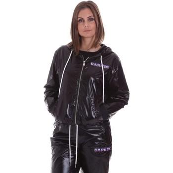 Textil Mulher Casacos  La Carrie 092M-TJ-410 Preto