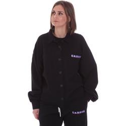 Textil Mulher Casacos  La Carrie 092M-TJ-310 Preto