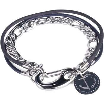 Relógios & jóias Homem Pulseiras Seajure Faroe Azul Marinho