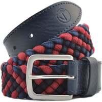 Acessórios Homem Cinto Seajure Navy and Red Braid Vermelho e Azul Marinho