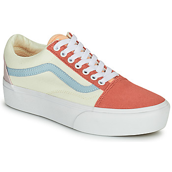 Sapatos Mulher Sapatilhas Vans OLD SKOOL PLATFORM Branco / Rosa