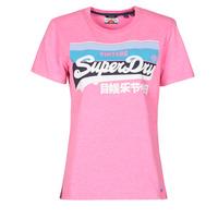 Textil Mulher T-Shirt mangas curtas Superdry VL CALI TEE 181 Rosa