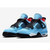 Sapatos Sapatilhas de cano-alto Nike Air Jordan 4 x Travis Scott University Blue/Varsity Red-Black