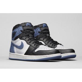 Sapatos Sapatilhas de cano-alto Nike Air Jordan 1 High Blue Moon Summit White/Black-Blue Moon