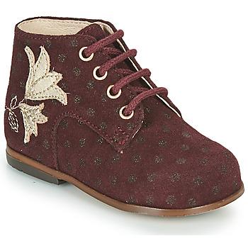 Sapatos Rapariga Sapatilhas de cano-alto Little Mary MEIGE Bordô