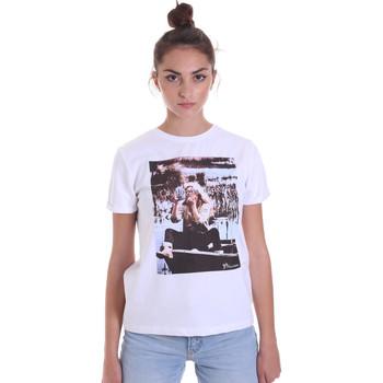 Textil Mulher T-Shirt mangas curtas Fracomina F120W03006J00139 Branco