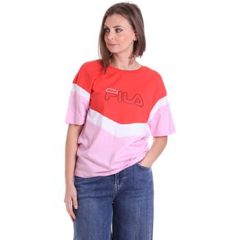 Textil Mulher T-Shirt mangas curtas Fila 683162 Vermelho