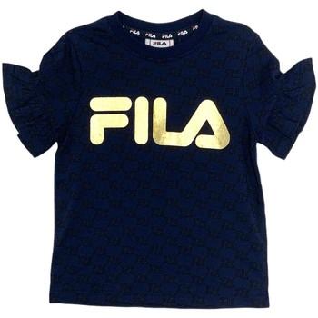Textil Rapariga T-Shirt mangas curtas Fila 688038 Azul
