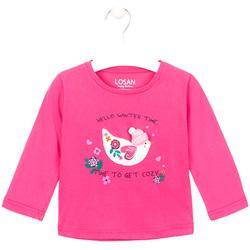 Textil Rapariga T-shirt mangas compridas Losan 026-1008AL Rosa