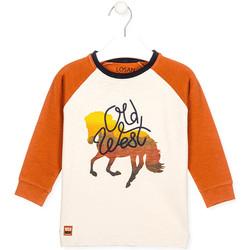 Textil Criança T-shirts e Pólos Losan 025-1018AL Branco