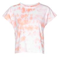 Textil Mulher T-Shirt mangas curtas Yurban ONILA Branco / Rosa