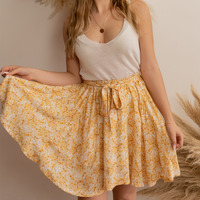 Textil Mulher Saias Céleste EGLANTINE Amarelo / Branco