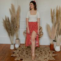 Textil Mulher Saias Céleste TOURTERELLE Vermelho / Multicolor