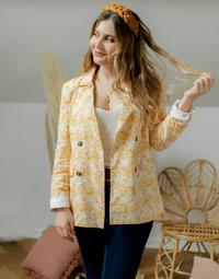 Textil Mulher Casacos/Blazers Céleste ALIZE Amarelo / Branco