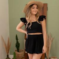 Textil Mulher Shorts / Bermudas Céleste MAGNOLIA Preto