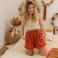 Textil Mulher Shorts / Bermudas Céleste MAGNOLIA Terracotta