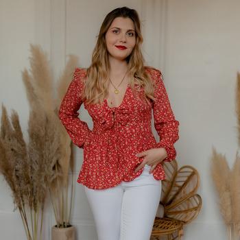 Textil Mulher Tops / Blusas Céleste ROSSIGNOL Vermelho / Multicolor
