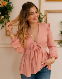 Textil Mulher Tops / Blusas Céleste ROSSIGNOL Rosa