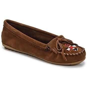 Sapatos Mulher Mocassins Minnetonka THUNDERBIRD II Castanho / Escuro