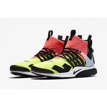Sapatos Sapatilhas de cano-alto Nike Air Presto Mid x Acronym Volt Neon Blanc/Noir/Lave piquant/Volt