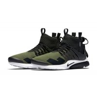 Sapatos Sapatilhas de cano-alto Nike Air Presto Mid x Acronym Olive Medium Olive/Dust-Black