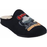Sapatos Homem Chinelos Vulca Bicha Vá para casa cavalheiro  1824 preto Preto